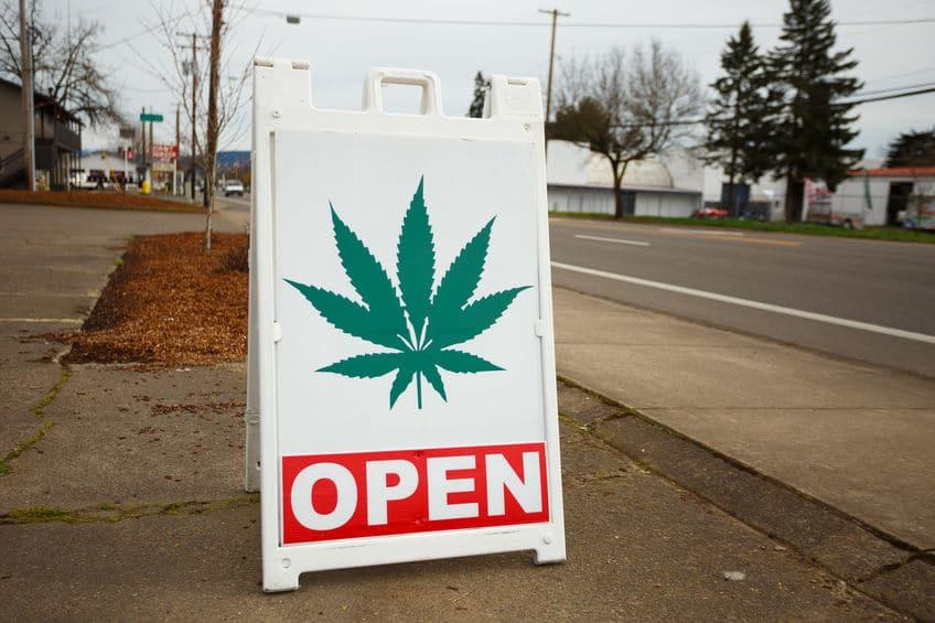 Marijuana shop sign