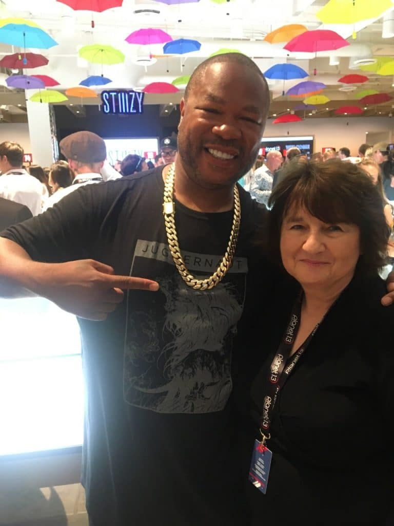 Rapper and TV star Xzibit with HeadMagazine.com Editor and Publisher Charlotte Parker