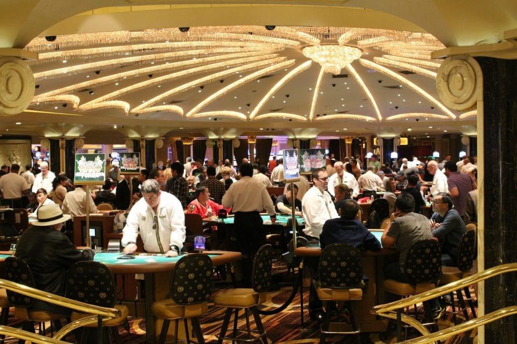 Gambling casino interior